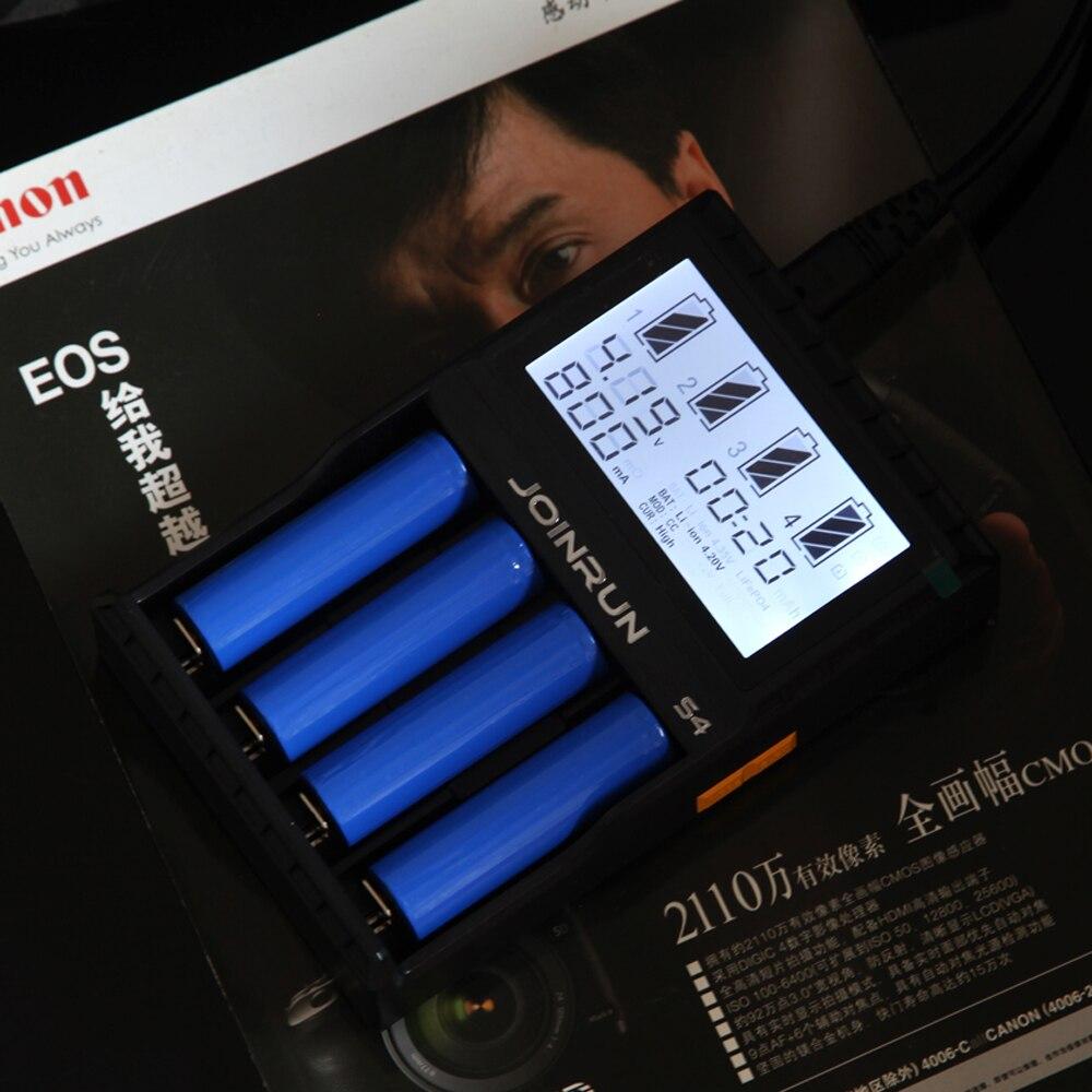 Joinrun S4 18650 cargador de batería inteligente cargador de batería para 18650, 14500, 16340, 26650 Ni-MH AAA AA cargador de batería Li-Ion inteligente con la caja de la batería