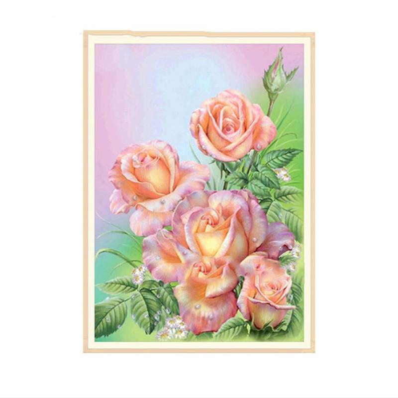 30 40cm 5d Bunga Mawar Lukisan Berlian Baru Diamond Lukisan Peony Cross Stitch Home Dinding Ruang Tamu Gantung Lukisan Berlian Lukisan Cross Stitch Aliexpress