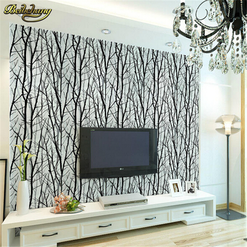 beibehang Tree Branches Wallpaper 3D Modern vinyl Wall Paper for Living Room TV Background non-woven paper wallpaper PVC imports beibehang tree branches wallpaper papel de parede 3d modern vinyl wall paper for living room tv background home decor white wood