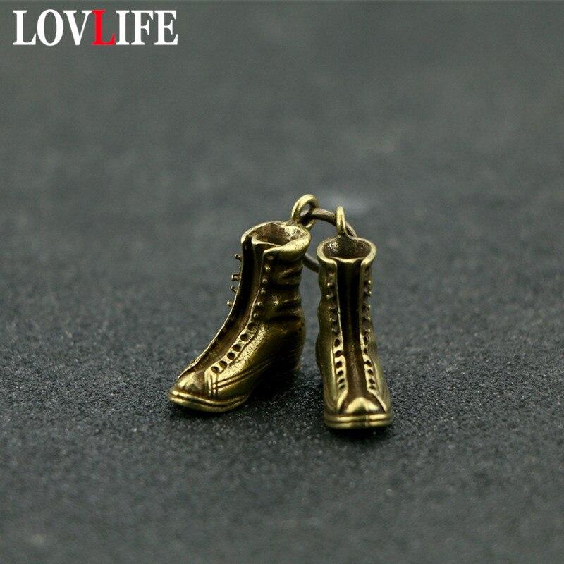 Retro Brass Small Boots Keychain Key Ring Original Handmade Waist hanged Gift