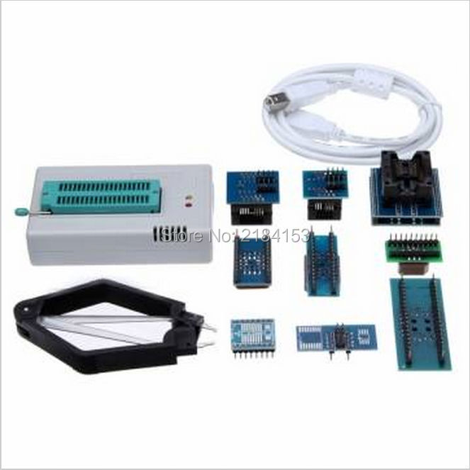 Free Shipping Mini Pro TL866II PLUS USB BIOS Universal Programmer Kit With 9 Pcs Adapter