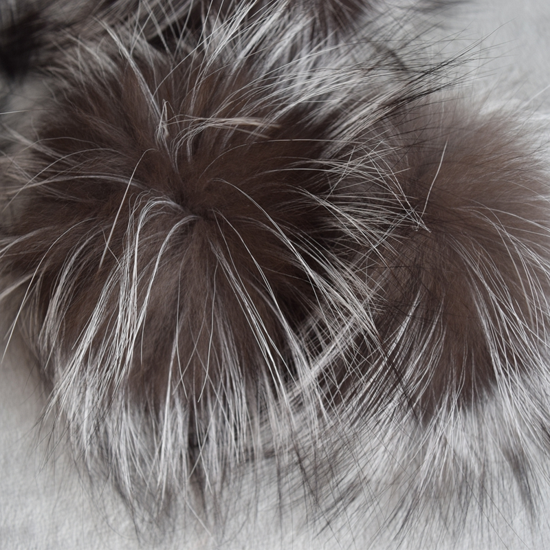 Pom-Pom Beanies Hair-Ball Knitted-Hats Raccoon-Fur Large Wholesale Really Natural