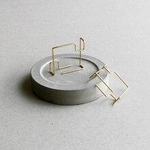 Pendientes cuadrados hechos a mano joyería minimalista oro relleno 925 Plata Brincos Orecchini Oorbellen Pendientes para mujer