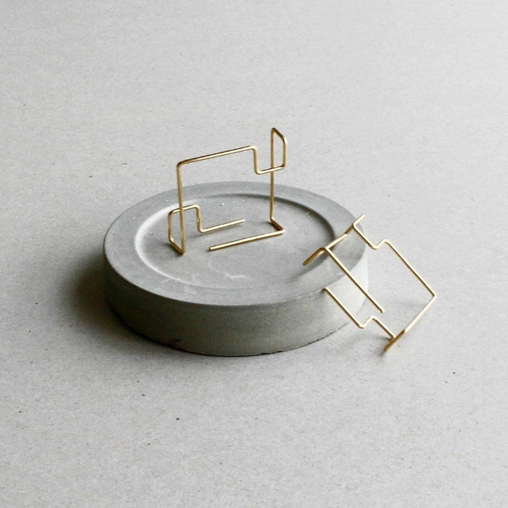 Square Earrings Handmade Minimalist Jewelry Gold Filled 925 Silver Brincos Orecchini Oorbellen Pendientes Earrings For Women