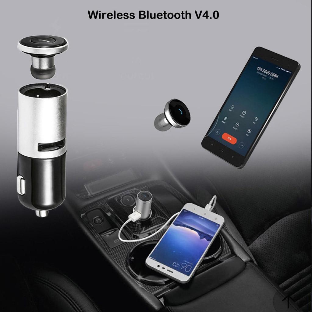 Neue Design Usb Wireless Bluetooth V4.0 Auto Ladegerät Hände-freies Kopfhörer Headset 1a Dc 12-24 V Praktische Auto Chargerautomatically