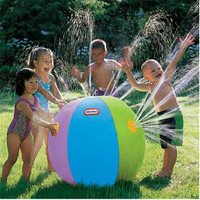 1PC 75CM Summer Children's Outdoor Lawn Swimming Beach Inflatable Water Fountain Ball Toy