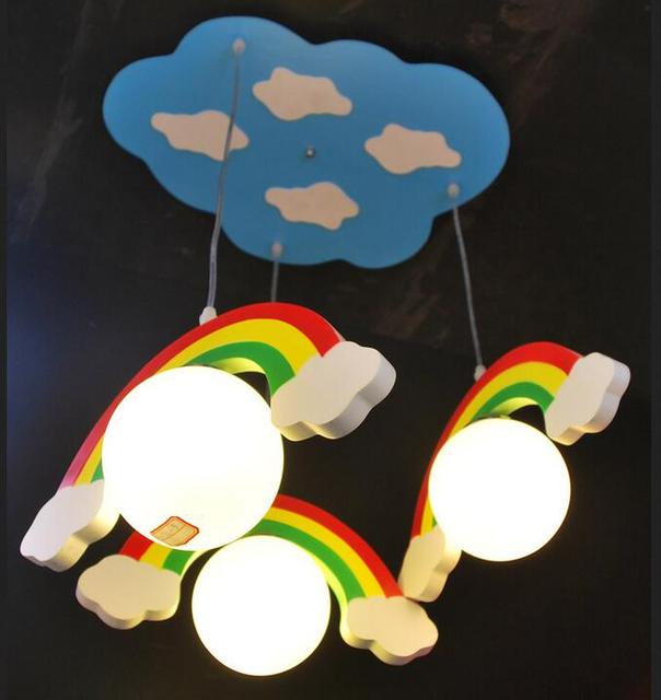Children toy modern clouds rainbow ball glass child real pendant children toy modern clouds rainbow ball glass child real pendant lights wool child room bedroom lighting aloadofball Image collections