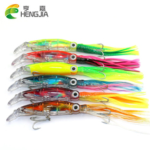 Hot Sale 3PCS/LOT Fish Lures Artificial Octopus Lures 14cm 40g 3D Eyes Lifelike Fishing Tackle Fishing Bait HJ075 Free Shipping