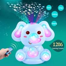 Baby Elephant Story Csörgők Glowing Sing és Dance Baby Játékok 0-12 hónapos gyerekek Elektromos Zene Baba Játékok Mobiltelefon