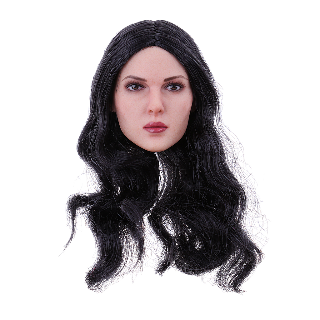 1/6 Female Doll Head Sculpture Hair Sculpt for 12'' Hot Stuff TTL Enterbay Action Figure 1 6 female head for 12 action figure doll accessories marvel s the avengers agents of s h i e l d maria hill doll head sculpt