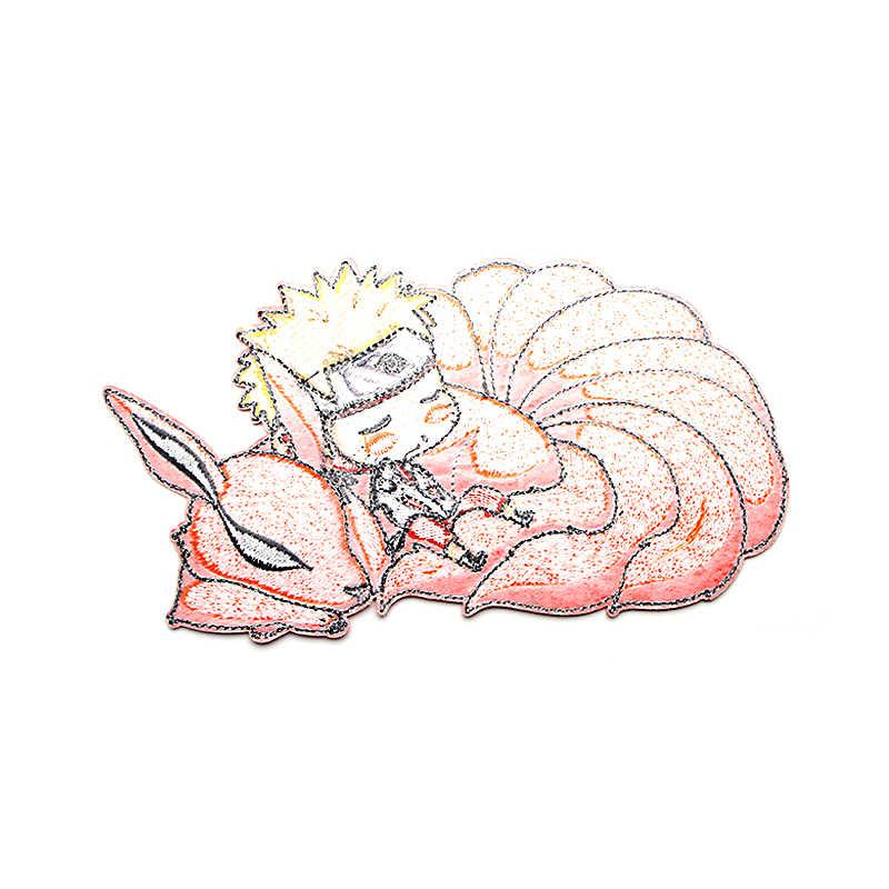 나루토 만화 아이언 패치 의류에 파라 DIY 수 놓은 배지 소년 남자 e0591에 대 한 Applique 패치 워크 스티커 장식 바느질