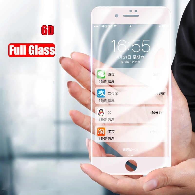 MOUSEMI 6D Completo de Proteção Protetores de Tela de Vidro Para o iphone X 9 H Filme Borda Curvada Para iPhone 7 8 6 s 6 Além de Vidro Temperado Em