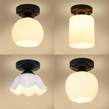 BOKT Modern Ceiling Light With Glass Lampshade White Lamp For Living Room Bedroom Bathroom AC 85-265V