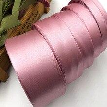 25 ярдов темно-лиловая шелковая атласная лента для украшения свадебной вечеринки подарочная упаковка Рождественская Новогодняя одежда тканевая лента для шитья 92