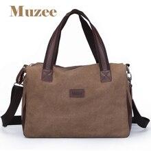 Новинка 2017 года Muzee бренд Винтаж большая емкость мужчин холст дорожные сумки Высокое качество путешествия вещевой мешок багажа, Бесплатная доставка