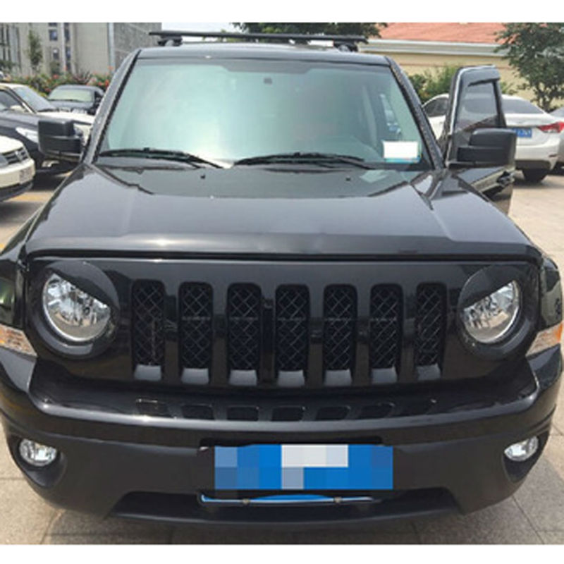 №For Jeep Patriot 13-16 Headlight ⊰ Trim Trim Lamp Cover