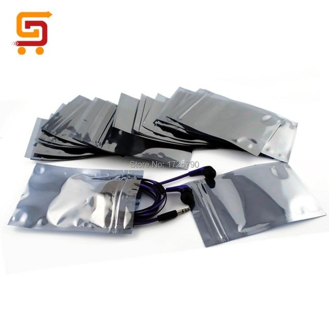 Frete Grátis 100 pcs 9*13 cm Antiestático ESD Anti-Static Blindagem Bags Saco Zip Lock À Prova D' Água Auto selo Saco de Embalagem Antiestática