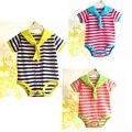 Retail Stripes Sailor Costume for Baby Boy Girl Bodysuits Fantasia Infantil Jumper Summer Newborn Bebe Clothing Infant Clothes