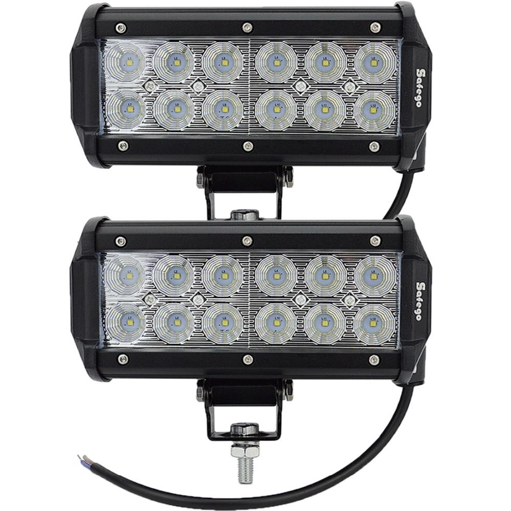 ФОТО 2PCS 7INCH CREE 36W  LED WORK LIGHT BAR FLOOD OFFROAD LIGHT FOR TRACTOR BOAT ATV MILITARY LED WORK LIGHT BAR