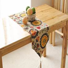 Bohemian style Cotton linen Table Runner tassel Table Cloth restaurant Cafe Home Decoration 1pcs price Free Shipping(China)