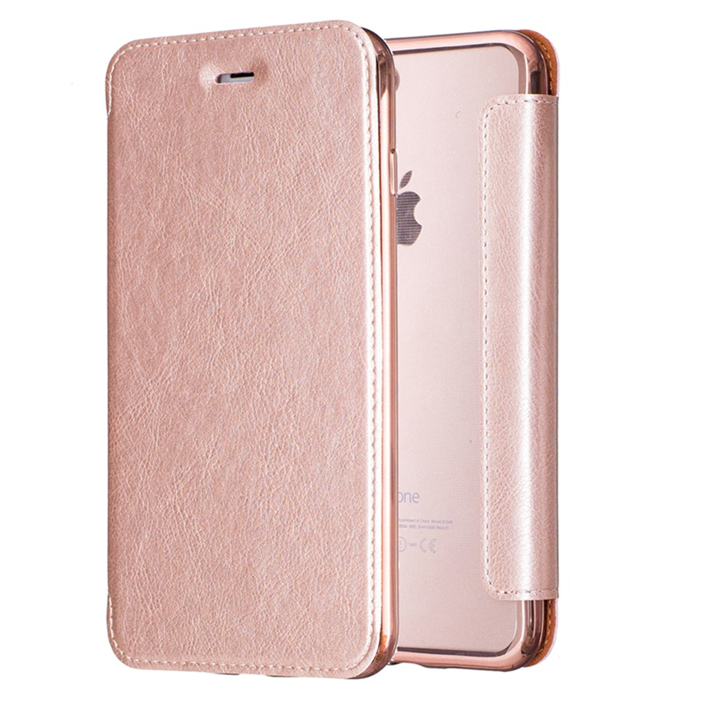 Wallet Card Slot Phone Shell Bag Filp PU Leather Back Cover Full Body Protection Protective For Apple iPhone 6 S 6S Plus