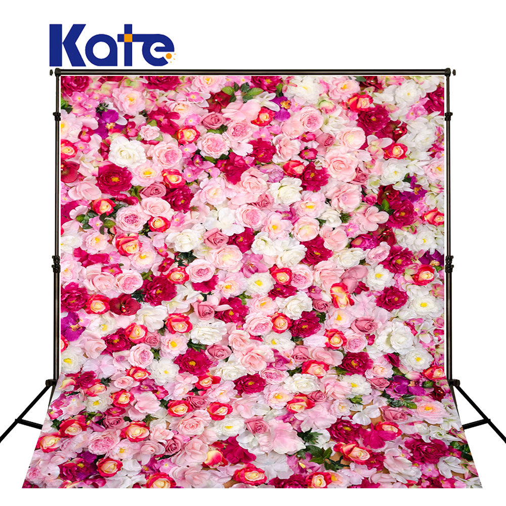 Kate Flower Wall  Backdrop Indoor Wedding Background Cloth Spring Photography Backdrops Seamless Photo For Studio Custom 857 seamless nail wedding photo frame wall paintings hook the real invisible