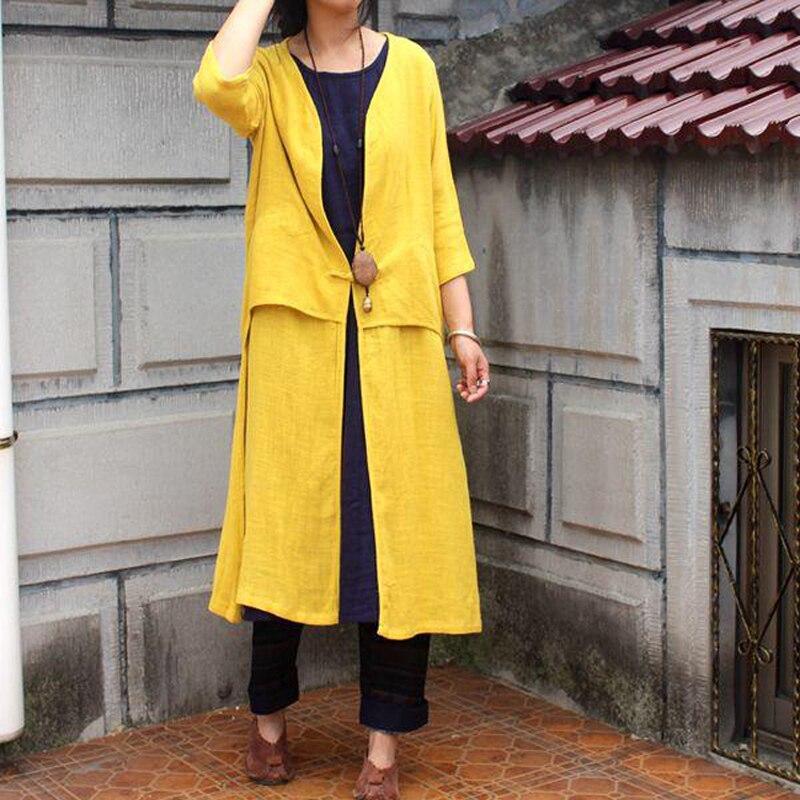 Summer new cotton linen Rash Guards Sun protection blouses summer dress