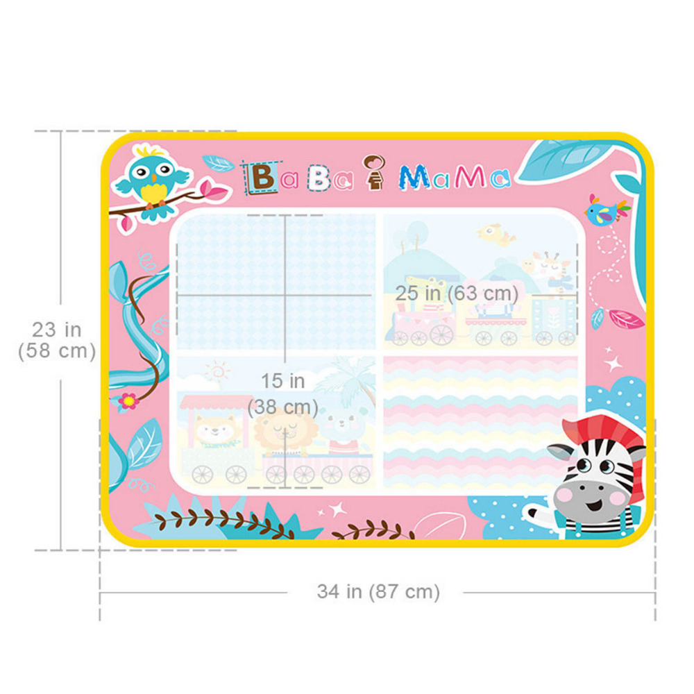 Baby Gyms one canvas and two pens Kid Non-woven fabrics Pink 87*58cm family pay funny game birthday gift children indoor games