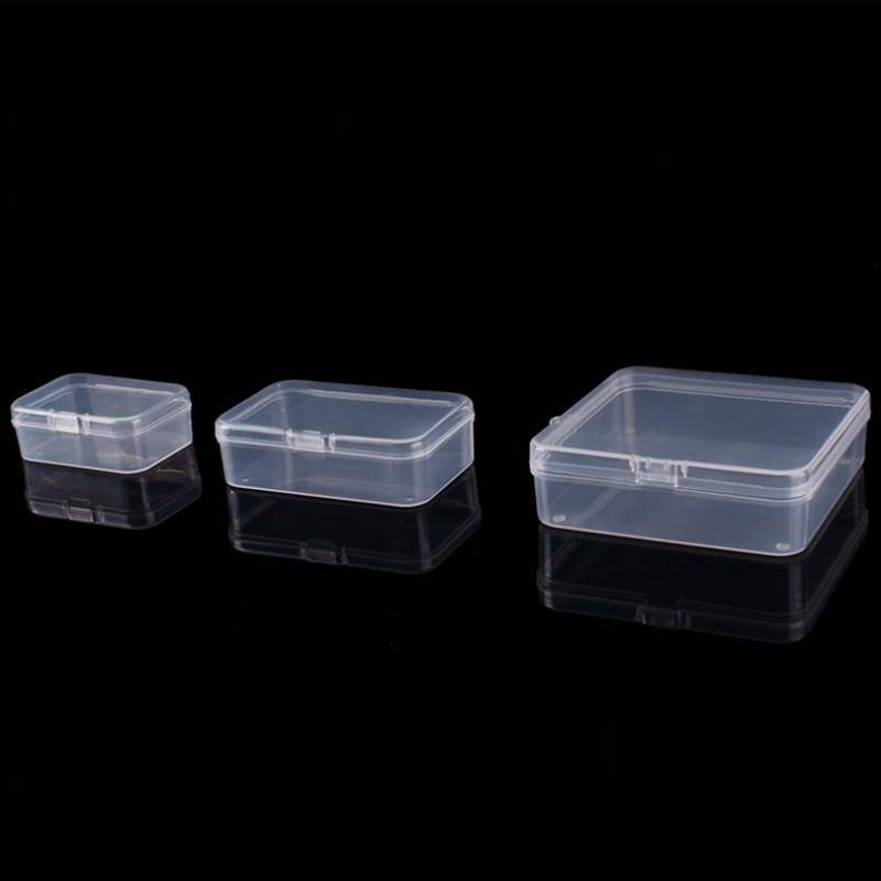 1 Set Storage Box PP Plastic Clear Small Medium Large Case Organizer Gift For Jewelry Accessories