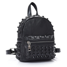 Small Leather Punk Backpack