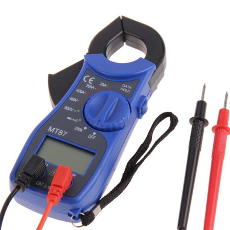 Electrical Clamp Meter : Blue color lcd digital clamp meter multimeter voltmet
