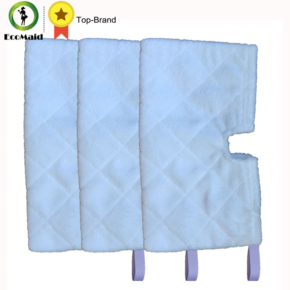 3 pcs Rectangle Mop For Shark Euro Pro Pocket Steam Series Mop Compatible Replacement Pocket Pads Euro Pro Microfiber S3550 4 pcs white microfibre steam mop cleaning floor washable replacement pads compatible for x5 h20 series dust cleaner part
