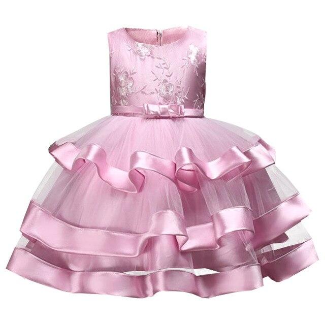 Ragazze dei vestiti dei bambini del vestito di fascia alta per bambini abiti di pizzo in rilievo da sposa ragazza di fiore del vestito di compleanno del bambino della ragazza tutu vestiti