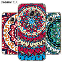 DREAMFOX L408 Mandala Pattern Soft TPU Silicone Case Cover For Samsung Galaxy Note 3 4 5 8 S5 S6 S7 Edge S8 Plus Grand Prime