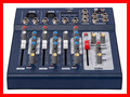 NFS2RU 4 Channel ELM F4 DJ Mixer For Stage Home Karaoke 48V Phantom power Supply USB input LED sound console Mikser
