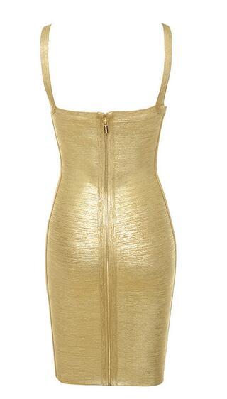 Bust Bandage Women's 2018 Dropshipping Wholesale High Party Cross Dress Gold New Metallic Quality xZznRv