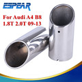 Stainless Steel Chrome Tail Rear Muffler Exhaust Tip Pipe For Audi A4 A4L B8 Q5 2009 2010 2011 2012 2013 #9142