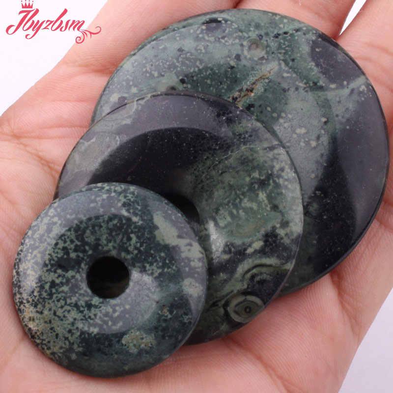 30,40, 50 milímetros Donut Natural Oceano Rodada Ágatas Pedra Contas Espaçador Pandant 1 Pcs, para Colar Pulseiras Jóias Fazer, Frete Grátis
