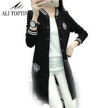 2017 New Women's Casual Long-sleeved Warm And Comfortable Thin Windbreaker Loose Coat Sweatshirt Women Baseball Jacket Jk33