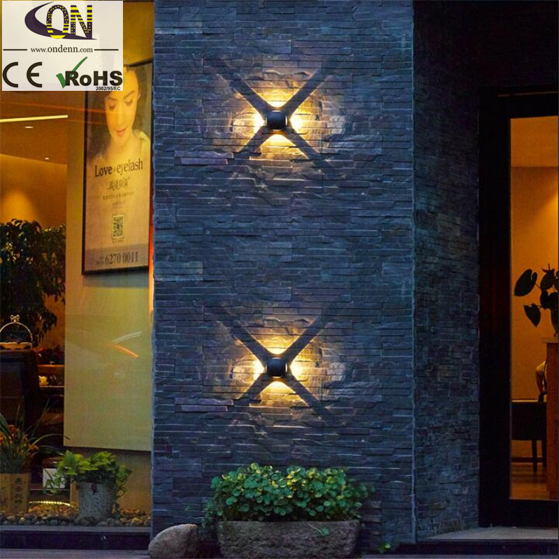 Led Lamps Led Outdoor Wall Lamps 8w Led Outdoor Waterproof Wall Lamp Up And Down The Light Cross Wall Light Spherical European Staircase Aisle Hotel Wall Lamp
