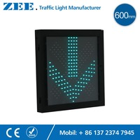 600mmx600mm LED Traffic Light Red Cross And Green Arrow 600mm Traffic Signal Light Parking Lot Toll