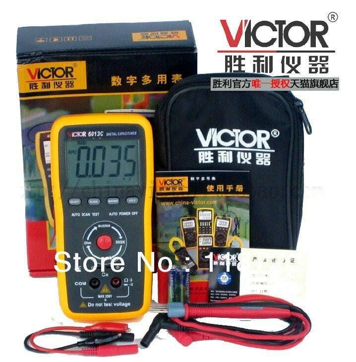 VC6013C Capacitance Meter Digital LCR Meter New type holster, streamline design.VICTOR 6013C  цены