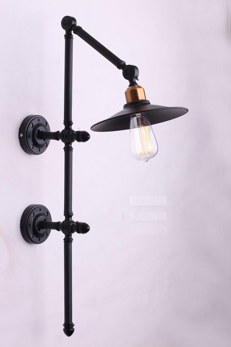 Vintage Black industrial wind wall Loft iron pendant light features a restaurant