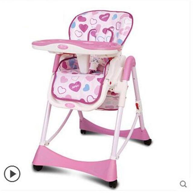 Ребенок Складной Стул ткань металлическая детская столовая стульчик складной ребенок обеденный стул