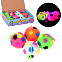 1 Pcs Glowing Luminous Massage Ball 6cm Bouncing Sound Gift for Children Kids YJS Dropship