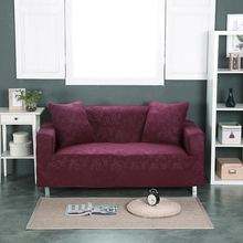 DANSUNREVE Sofa Cover Deep Red Elastic Stretchable