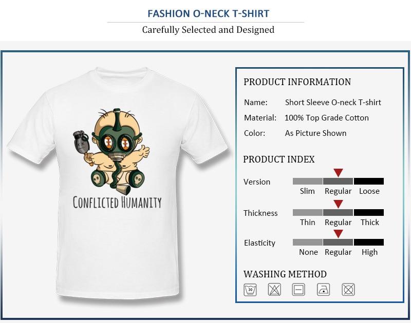 Gas Mask Skull Mens Black T Shirt Carefully Selected Materials T-shirts