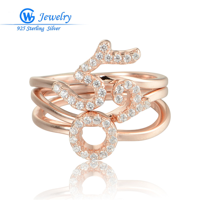 Gw fashion jewelry rose gold rings 925 silver stamped 520 for What does 925 ksj mean on jewelry
