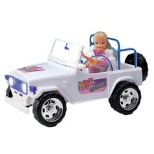 Для Барби автомобиль белый горный багги с наклейкой украшения аксессуары внедорожник Внедорожник для Monster High Кукла девочка подарок