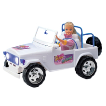 For Barbie Car White Mountain Buggy with Sticker Decoration Accessories Off-road Vehicle SUV for Mon